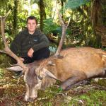 Jake with his first Fiordland Red stag